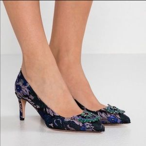 NEW J. Crew Colette jacquard pointed heels